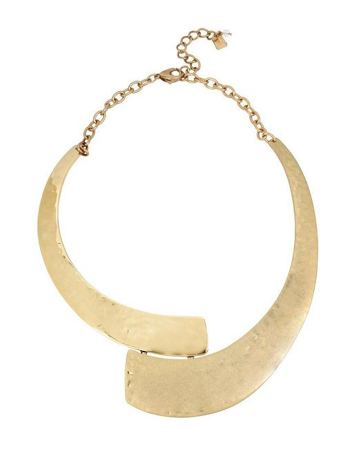 Robert Lee Morris - Metallic Shiny And Matte Gold Collar Statement Necklace - Lyst