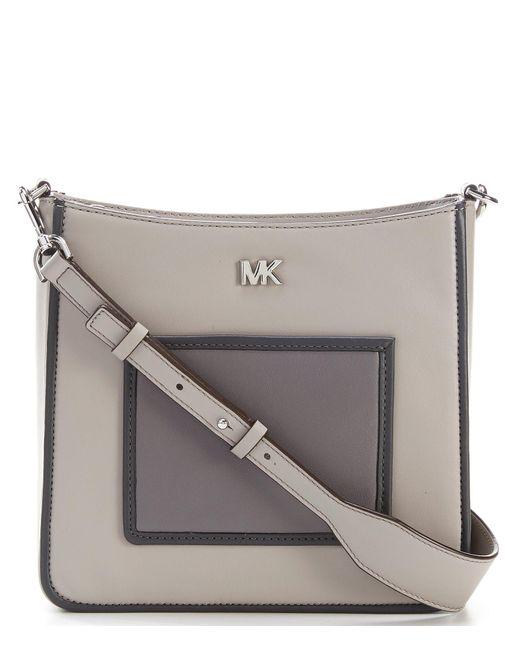 MICHAEL Michael Kors - Gray Gloria Pocket Cross-body Bag - Lyst