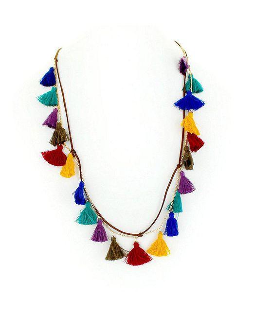 Panacea | Blue Spice World Boho Tassel Station Necklace | Lyst