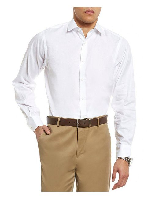 Hart Schaffner Marx | White Diamond Texture Long-sleeve Sportshirt for Men | Lyst