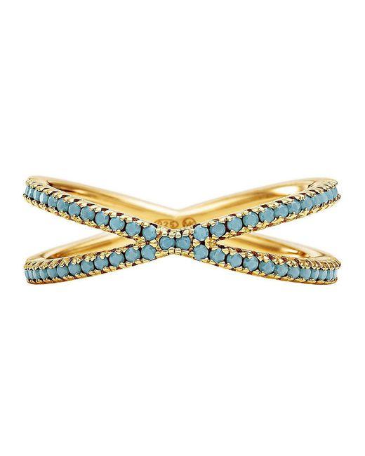 Michael Kors - Metallic Custom Kors Sterling Silver Turquoise Nesting Ring - Lyst
