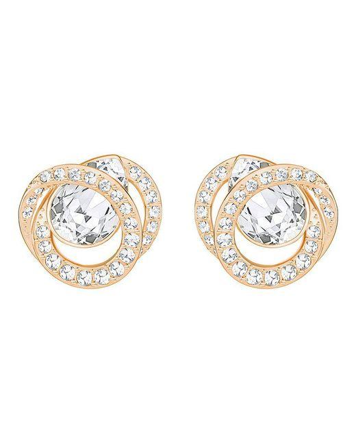 Swarovski | Metallic Generation Crystal Pavé Stud Earrings | Lyst