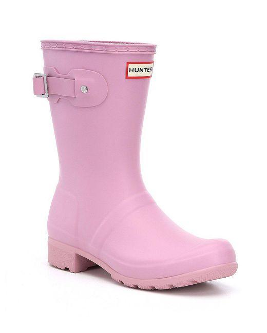 Hunter   Green Original Tour Matte Short Rain Boots   Lyst