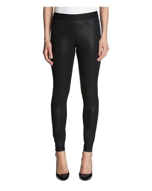 1.STATE   Black Lacquered Twill Leggings   Lyst