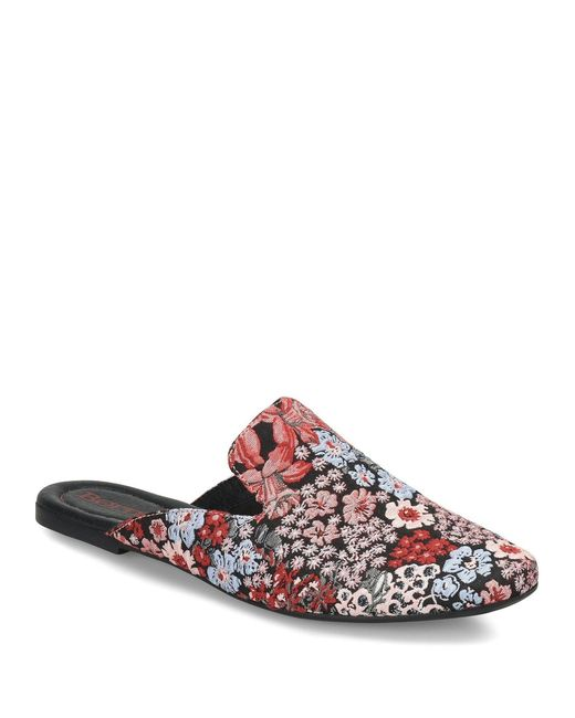 Born - Red Ingah Floral Fabric Mules - Lyst