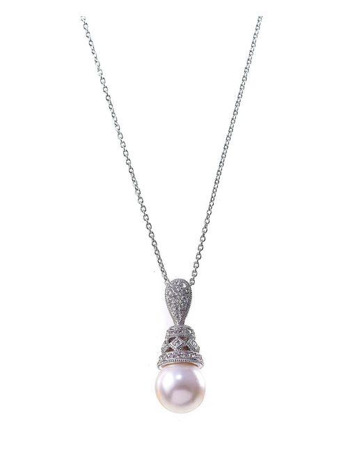 Nadri - Metallic Faux-pearl Drop Pendant Necklace - Lyst
