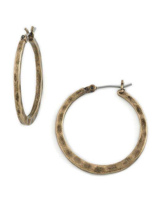 Lucky Brand | Metallic Small Round Hoop Earrings | Lyst