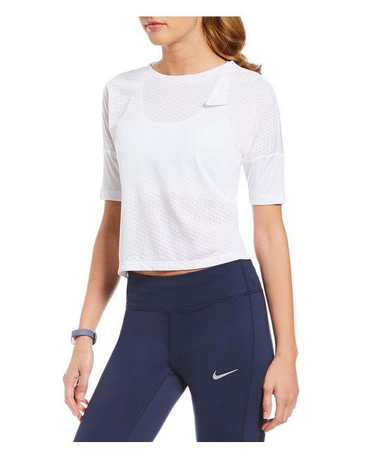 Nike - White Tailwind Short-sleeve Running Top - Lyst
