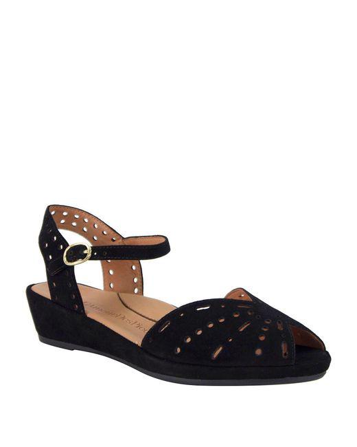 L'amour Des Pieds - Black 'brenn' Ankle Strap Sandal - Lyst