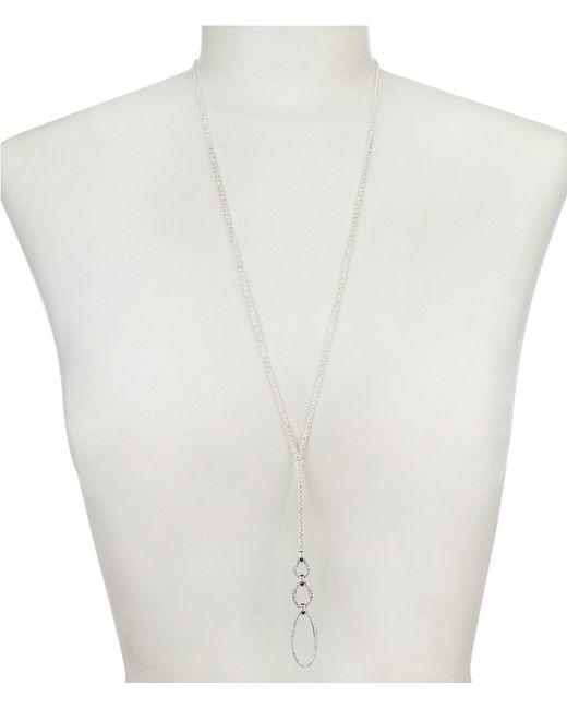 Lauren by Ralph Lauren - Metallic Pave Link Y Necklace - Lyst