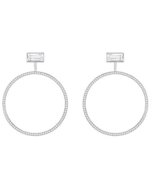 Swarovski   Metallic Fever Crystal Stud & Hoop Convertible Front/back Earrings   Lyst