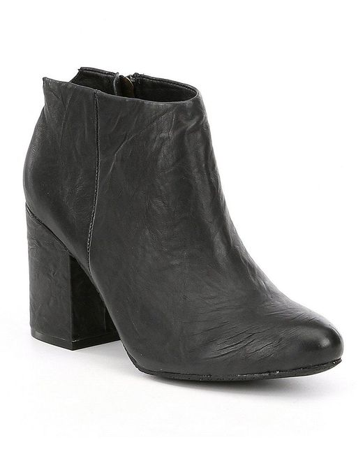 Me Too | Black Adam Tucker By Zia Leather Booties | Lyst