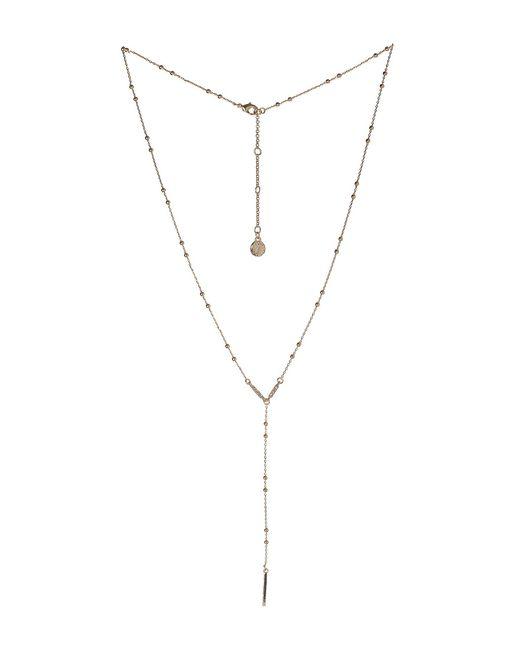 BCBGeneration - Metallic Bcbg Long Y-neck Rosary Necklace - Lyst