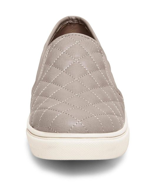 d93f8fbfaa9 ... Steve Madden - Gray Ecentrcq Quilted Slip On Sneakers - Lyst ...