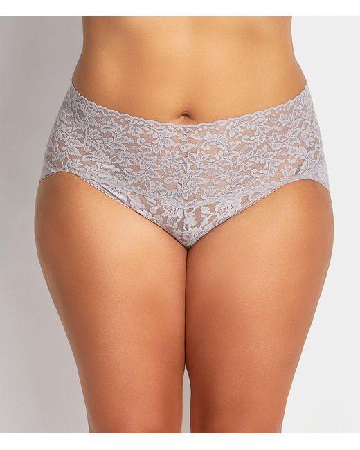 Hanky Panky - Gray Plus Retro Lace V-kini Panty - Lyst