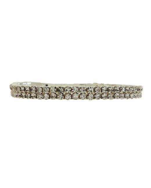 Cezanne - Metallic 2-row Austrian Crystal Stretch Bracelet - Lyst