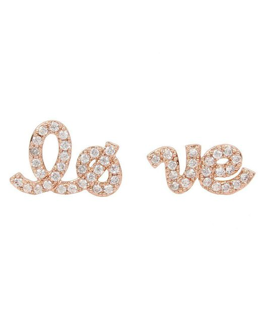 Betsey Johnson | Pink Blue By Mismatched Love Stud Earrings | Lyst