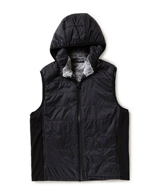 Vince Camuto | Black Quilted Nylon Full-zip Vest for Men | Lyst