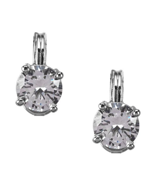 Anne Klein - Metallic Sparkling Ears Cubic Zirconia Stud Clip-on Earrings - Lyst