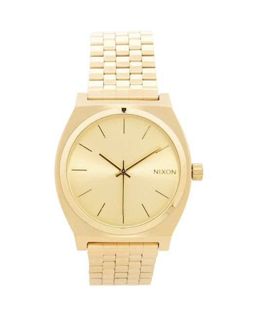 Nixon - Metallic The Time Teller Stainless Steel 3 Hand Analog Watch for Men - Lyst
