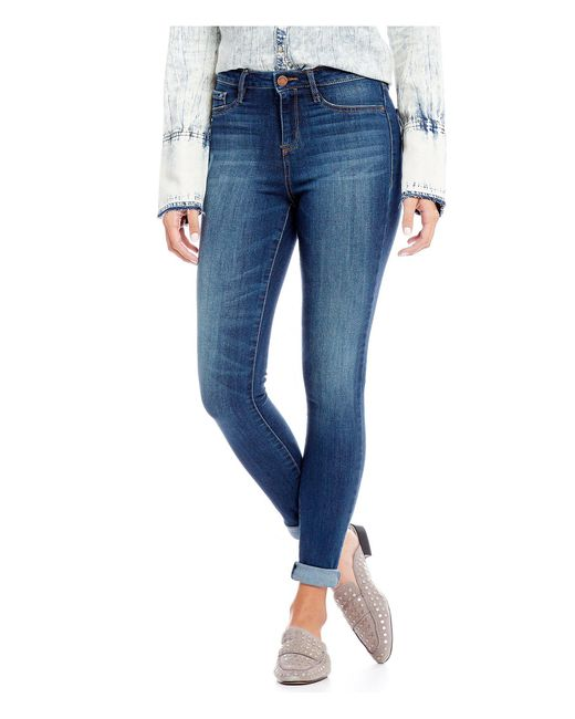 William Rast - Blue Sculpted High-rise Skinny Jeans - Lyst