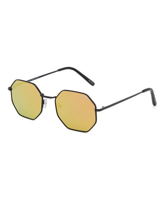 Quay | Metallic On A Dime Mirrored Octagonal Sunglasses | Lyst