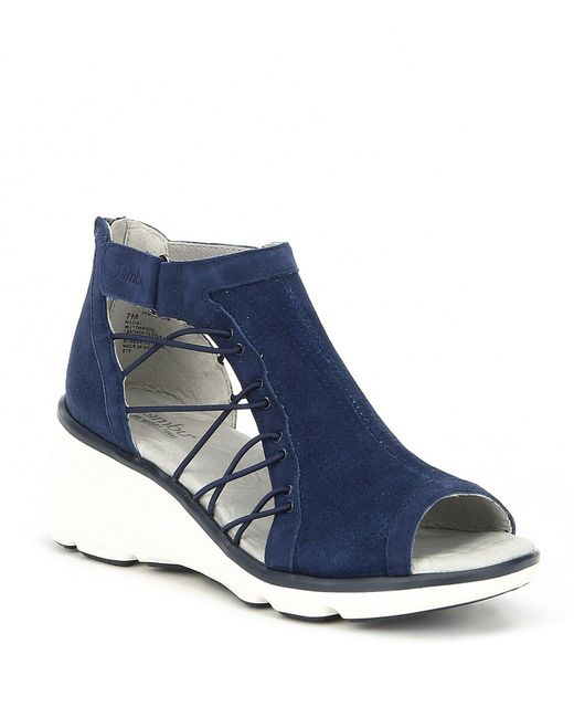 Jambu Blue Naomi Suede Wedge Sandals