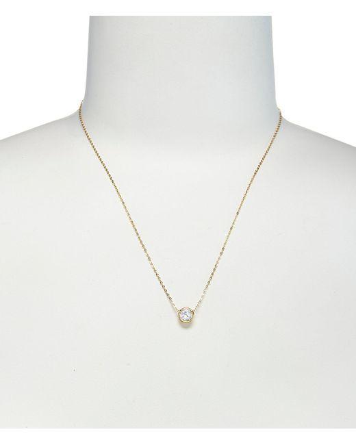 Nadri - Metallic Chanel 6mm Cubic Zirconia Pendant Necklace - Lyst