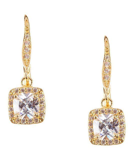 Anne Klein | Metallic Pavé Crystal Drop Earrings | Lyst