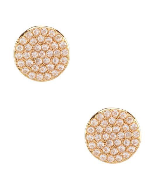 Kate Spade - Metallic Pav Circle Stud Earrings - Lyst