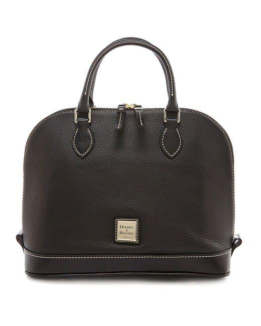 Dooney & Bourke - Black Pebble Collection Zip Zip Dome Satchel - Lyst