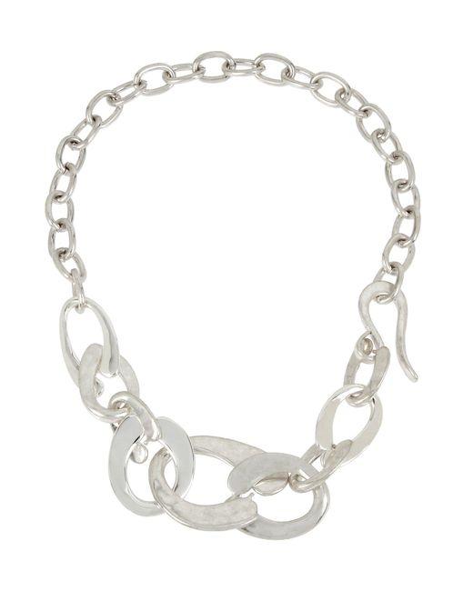 Robert Lee Morris - Metallic Sculptural Link Necklace - Lyst