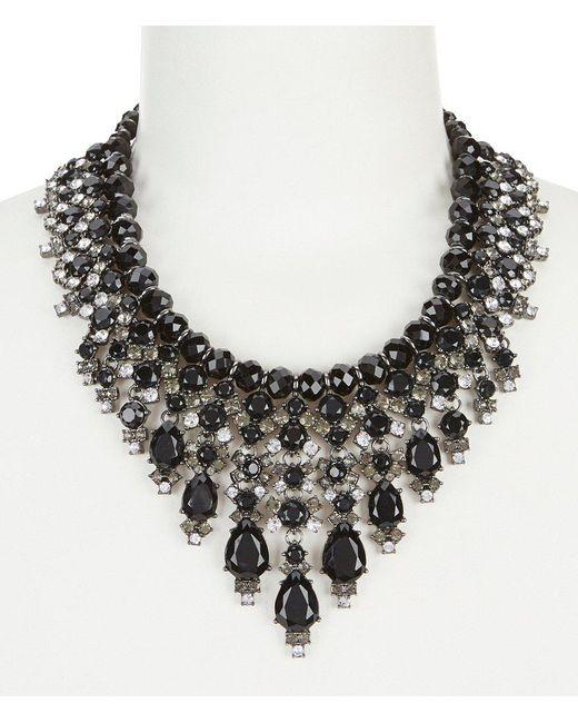 Carolee | Black Midnight Tower Beaded Cascade Statement Necklace | Lyst