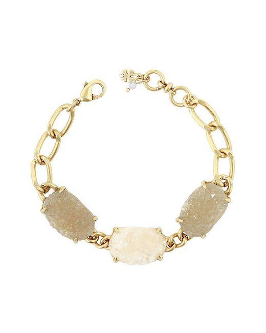Lucky Brand | Metallic Druzy Chain Link Line Bracelet | Lyst