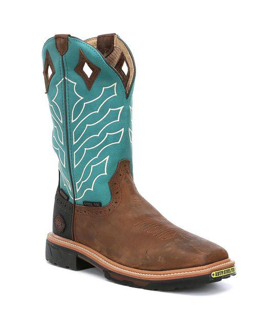 Justin Boots - Brown Justin Original Work Boots Men's Derrickman Waterproof Boots for Men - Lyst