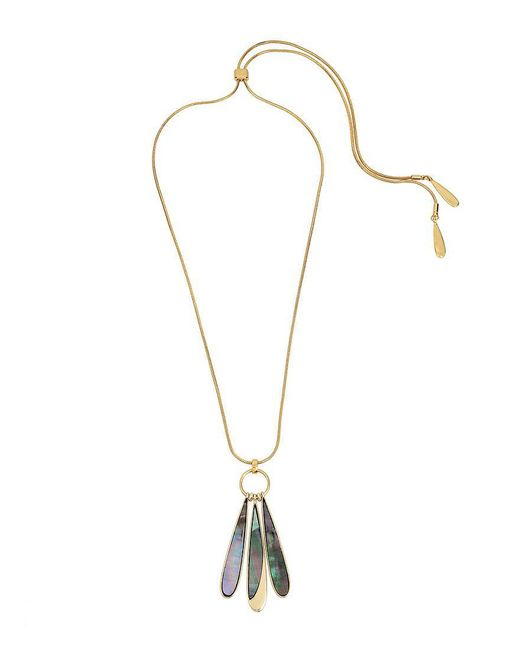 Kenneth Cole   Metallic Mother-of-pearl Slider Pendant Necklace   Lyst