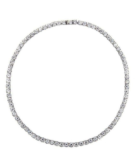 Nadri - Metallic All-around Cubic Zirconia Necklace - Lyst