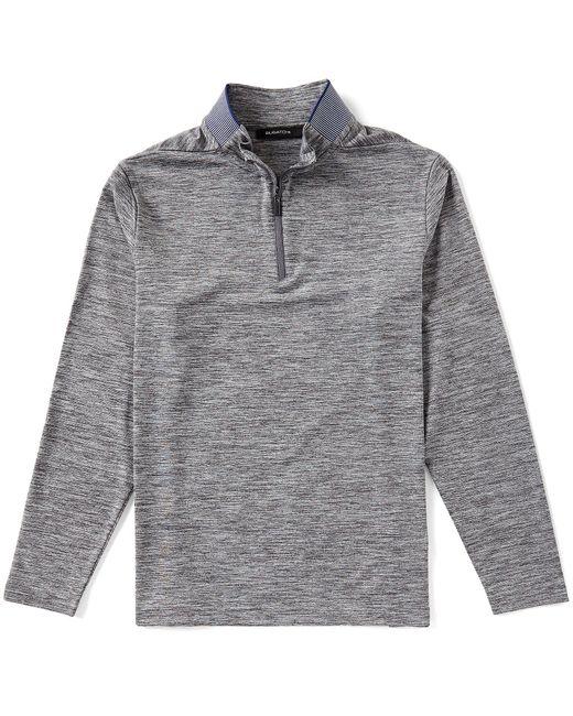 Bugatchi - Gray Solid Quarter-zip Pullover for Men - Lyst