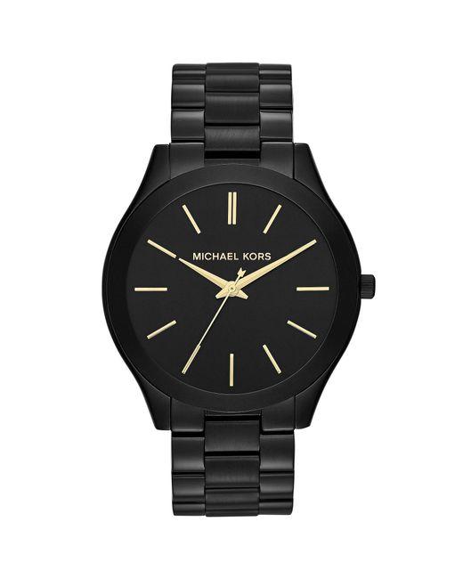 Michael Kors - Black Slim Runway Stainless Steel 3 Hand Bracelet Watch - Lyst