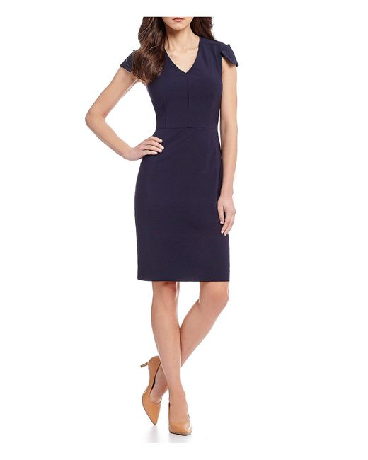 Antonio Melani - Blue Landon Cap Sleeve Dress - Lyst