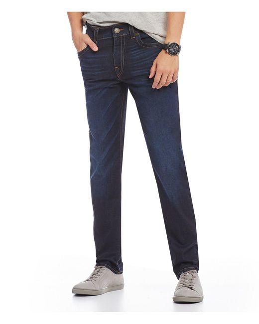 True Religion - Blue Geno Slim Straight Fit Jeans for Men - Lyst