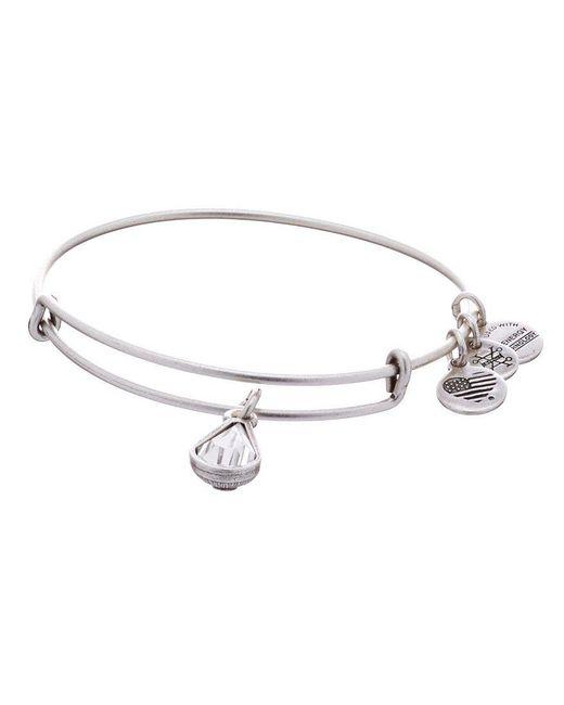 ALEX AND ANI | Metallic Birth Month Charm Bangle Bracelet With Swarovski® Crystal | Lyst