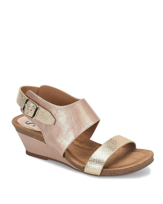 Söfft | Gray Vanita Leather Slingback Wedges | Lyst