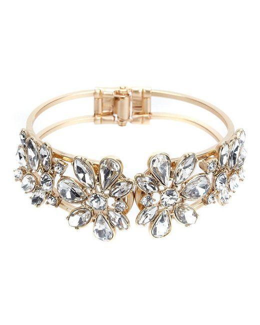 Belle By Badgley Mischka - Metallic Faux-crystal Hinge Bracelet - Lyst