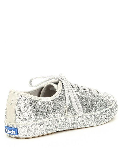 48c665e39e3 Kate Spade - Metallic Keds X Kickstart Glitter Sneakers - Lyst ... Keds for  kate spade new york ...
