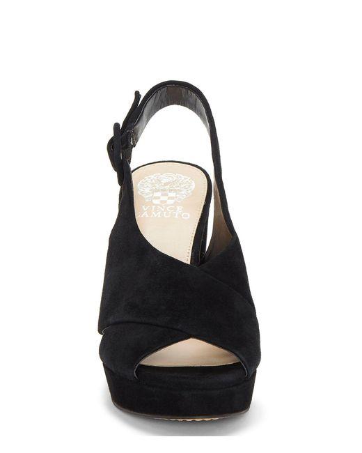 b9a5fd8bc26 Lyst - Vince Camuto Slingback Platform Sandal in Black - Save 40%