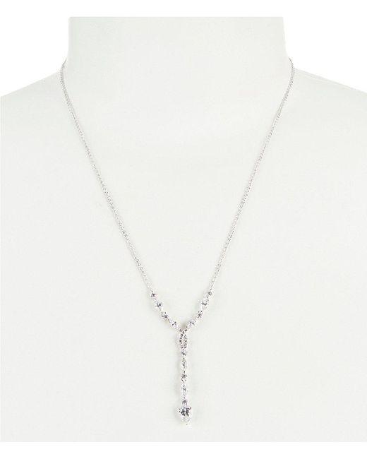 Nadri | Metallic Dolce Cubic Zirconia Y-necklace | Lyst