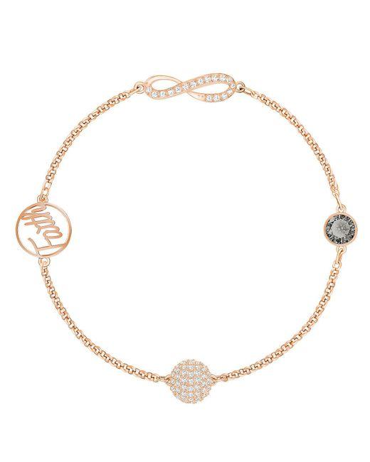 Swarovski - Metallic Remix Collection Faith Line Bracelet - Lyst