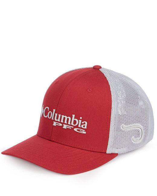 Columbia - Red Pfg Mesh Ball Cap for Men - Lyst
