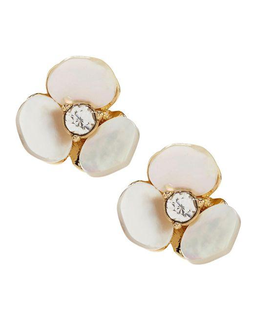 Kate Spade - Natural Pansy Stud Earrings - Lyst